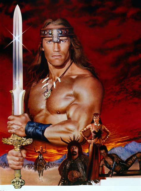 Conan the Destroyer (1984) keyart (Restoration performed