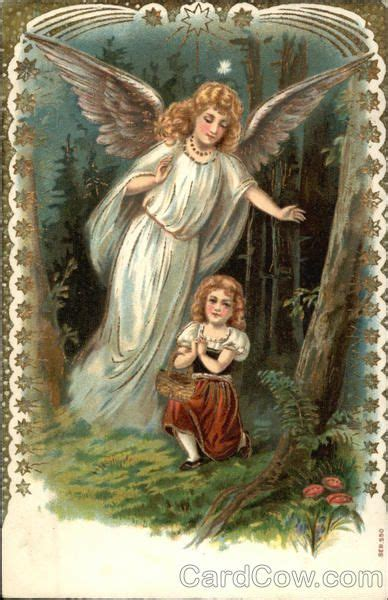 Guardian Angel Looking Out for Little Girl Lost in the