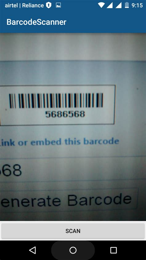 Android Development Tutorials: Barcode and QR code scanner