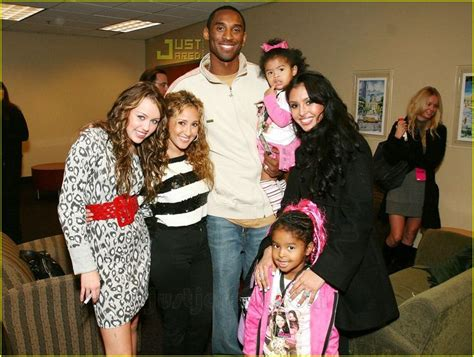 Miley Cyrus and Adrienne Bailon Meets Kobe Bryant, his