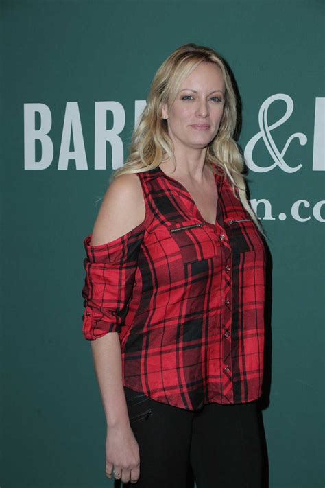 Stormy Daniels Signs Her Book Full Disclosure at The Grove