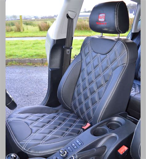 SEAT Leon MK2 Tailored Leather Look Diamond Quilted Seat
