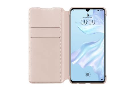 Huawei P30 Wallet Cover Pink - iWay
