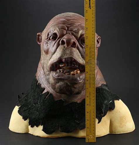 Ogre Mask on Bust | Prop Store - Ultimate Movie Collectables