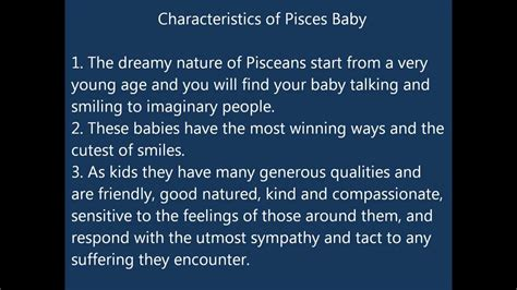 Characteristics of Pisces Baby - YouTube