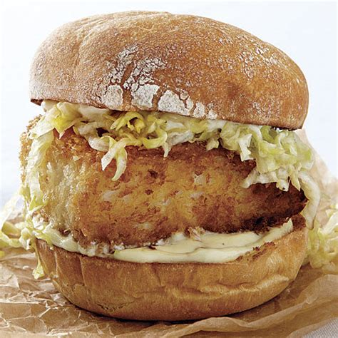 Crispy Fish Sandwiches with Wasabi and Ginger - Recipe
