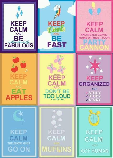 Keep Calm MLP style - imagine an episode where everypony