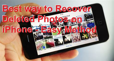 Best way to Recover Deleted Photos on iPhone - Easy Method
