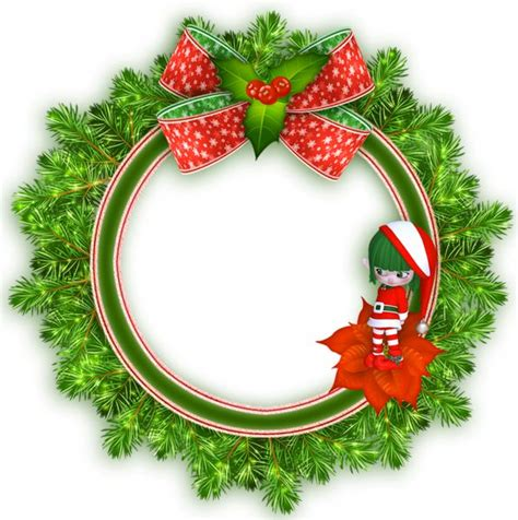 christmas transparent png borders and frames | Round